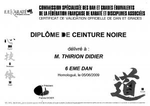 Didier 6eme dan